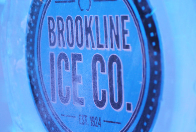 Brookline Ice Company sign at Frost Ice Bar
