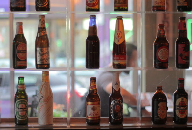 Beer bottles at Biere & Compagnie