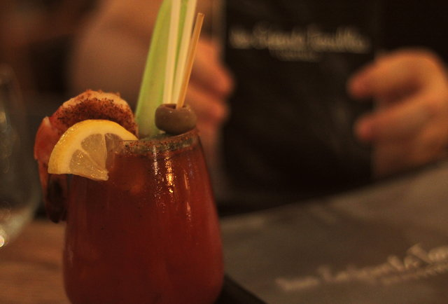 Close up of a Bloody Mary