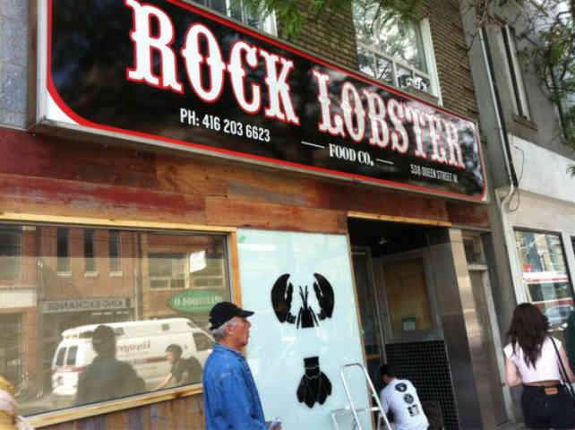 Rock Lobster exterior sign