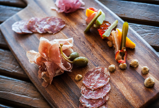 Charcuterie board at AVANT at the Rancho Bernardo Inn in San Diego, CA.