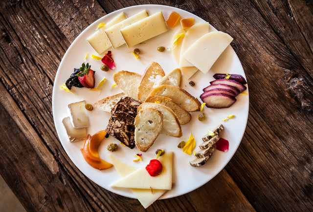 Cheese plate at AVANT at the Rancho Bernardo Inn in San Diego, CA.