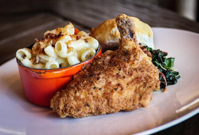 Fried Chicken at AVANT at the Rancho Bernardo Inn in San Diego, CA.