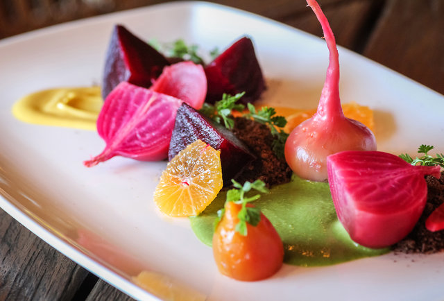 Heirloom Beet and Citrus Salad at AVANT at the Rancho Bernardo Inn in San Diego, CA.