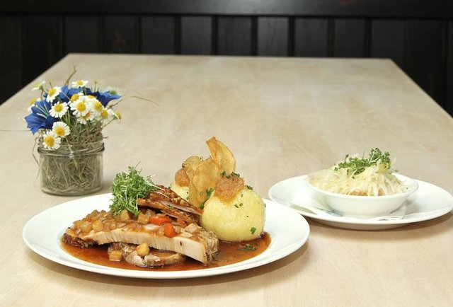 German cuisine at Tegernseer Tal Brauhaus