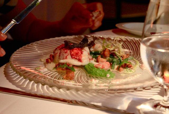 Tantris seafood dinner