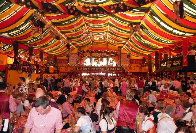 Big tent interior