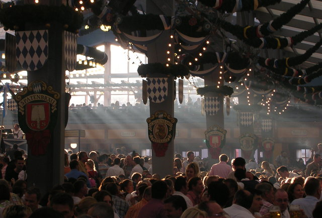 Interior of beer tent