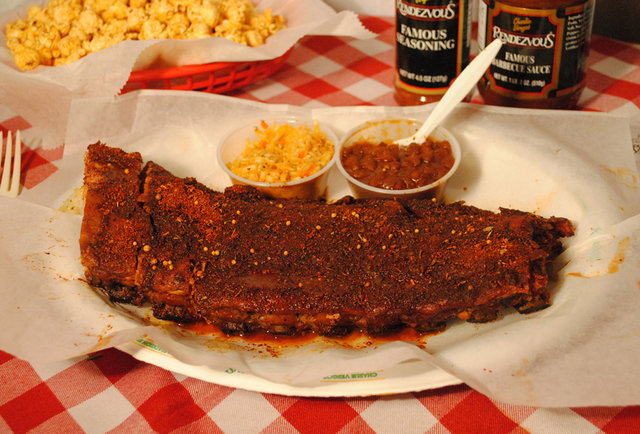 Ribs from Rendezvous in Memphis