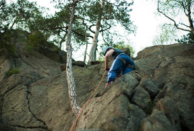 mountain climbing person