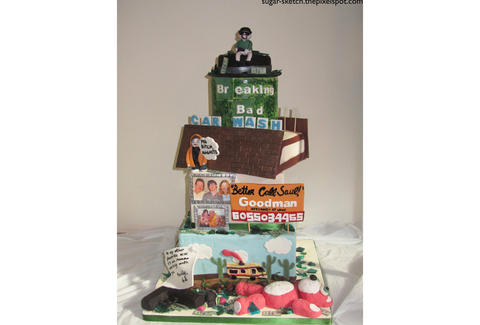 Breaking Bad tiered cake