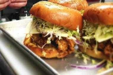 Super Cluckin' Sunday Fried Chicken Sandwich, cuttys