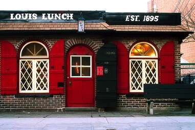 Louis' Lunch in New Haven, Connecticut served the original hamburger.