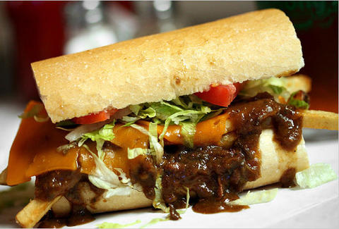 Po-boy at Mahony's Po-Boy Shop