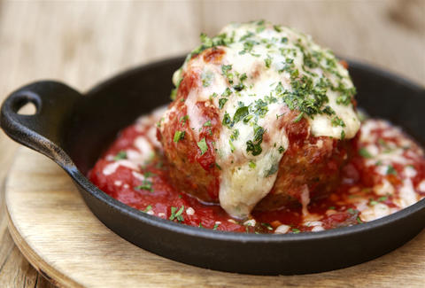 Giant Meatball from Cucina Enoteca