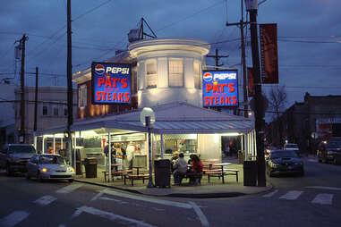 Pat's King of Steaks home of the original Philly cheese steak in Philadelphia, Pennsylvania.