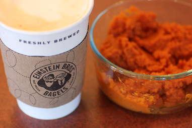 Einstein Bros pumpkin latte
