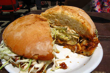 The Pulled Porc sammie at Depanneur Le Pick Up