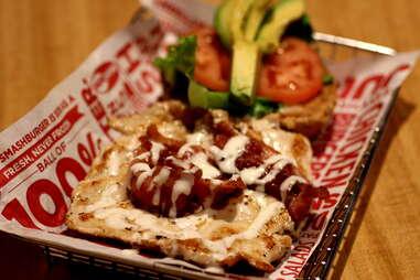 Chicken sandwich at Smashburger