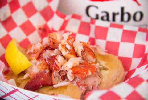 Garbo's Connecticut-style lobster roll