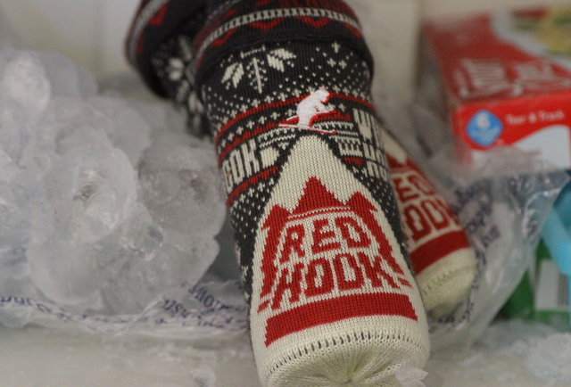 This Redhook sweater koozie will keep your beer cozier than Cosby