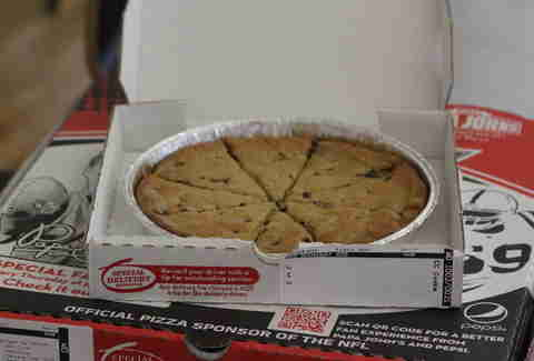 Papa John's mega chocolate chip cookie