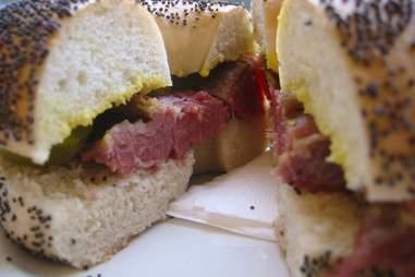 Salt Beef Bagel -- Brick Lane Beigel Bake --london
