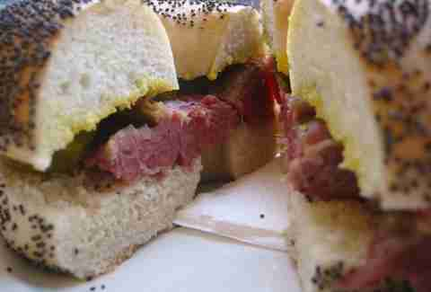 Salt Beef Bagel -- Brick Lane Beigel Bake --london