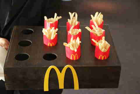 McDonald's Fries as passed appetizers