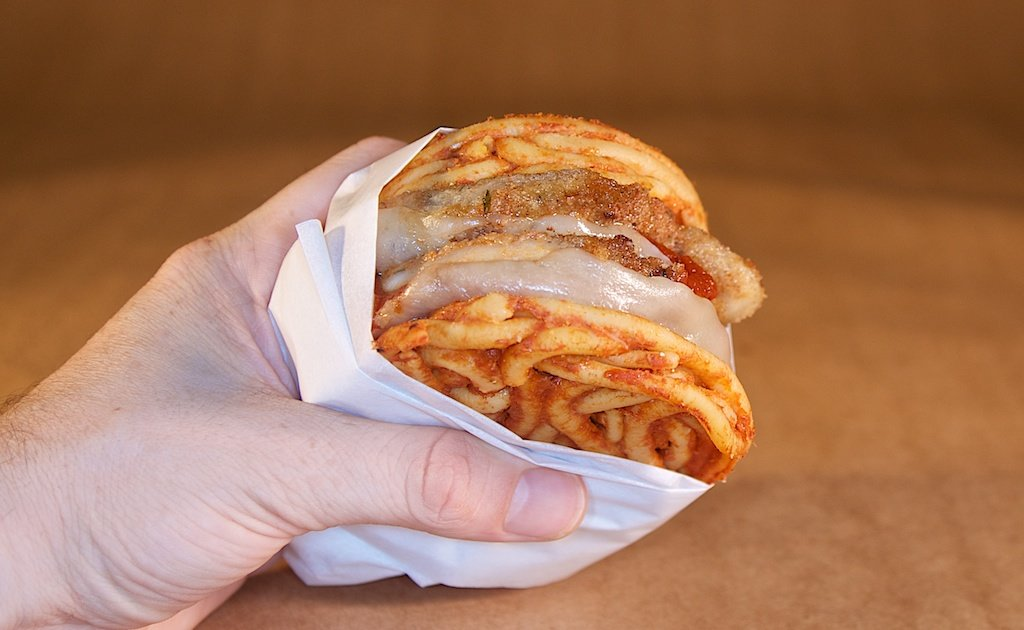Step off, ramen burger. The 'Roni Roll is here, and it puts fettuccine alfredo lobster between ...