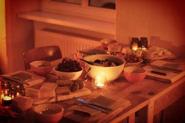 Table of food at List's Brotzeit Berlin