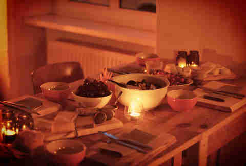 Table of food at List's Brotzeit Berlin