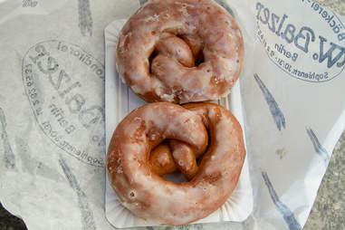 Pretzel donut at Bäckerei & Konditorei W. Balzer Berlin
