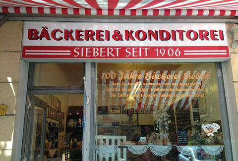 Store front of Bäckerei Siebert Berlin
