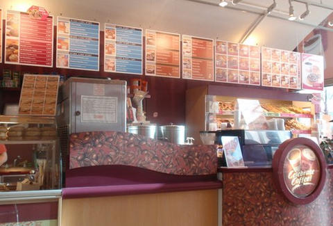 Inside Dunkin Donuts in Mitte Berlin