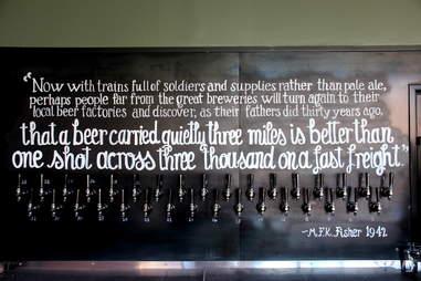Beer taps at HA