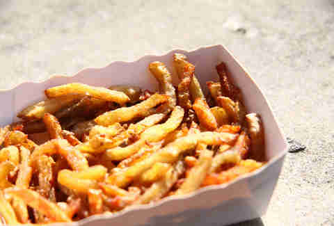 Fries at Camion Que Fume food truck Paris