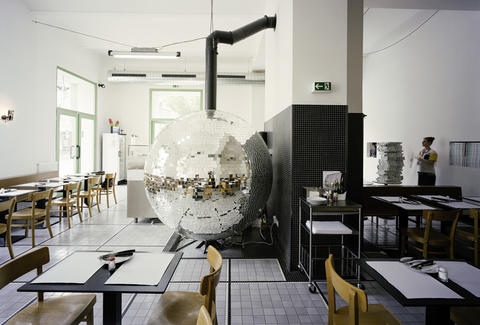 Disco Volante Lukas Galehr disco ball pizza oven