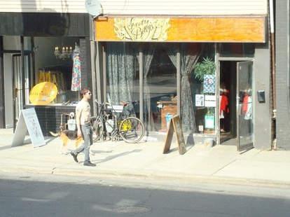 Outside of Sweaty Betty's Toronto