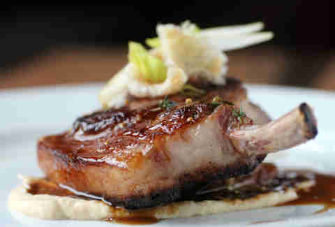 Berkshire bone-in porkchop at Chop Shop in Wicker Park