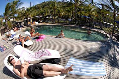 Poolside at Base Hostel Magnetic Island