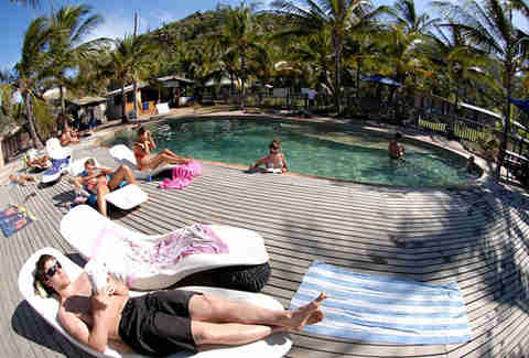 Poolside at Base Hostel Magnetic Island