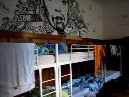Retox hostel messy bunk beds