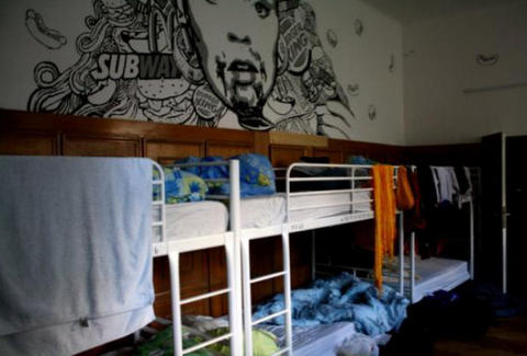 Retox hostel messy bunk beds