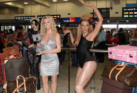 Britney and Beyonce on the airport line