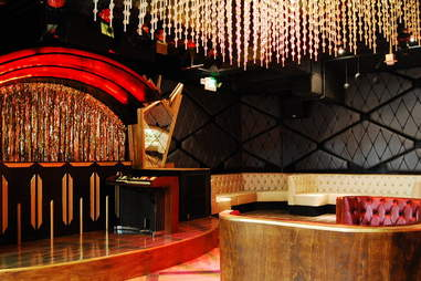 The performance space at Bootsy Bellows