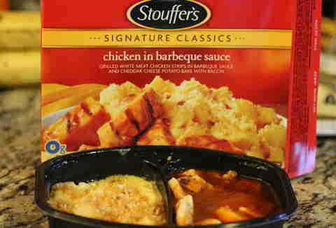 Stouffer's chicken in barbecue sauce