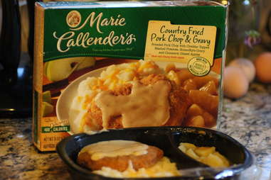 Marie Callender's country fried pork chop and gravy TV dinner