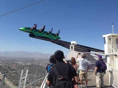 Stratosphere roller coaster