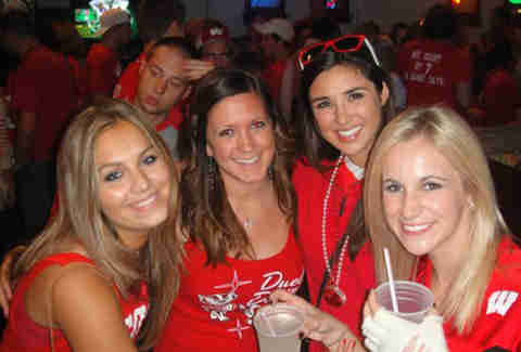 Wisconsin fans at the Kollege Klub